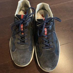Authentic Men's Prada Sneaker blue suede no box